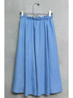 กระโปรงยาว Retro Girl สีฟ้าอ่อน