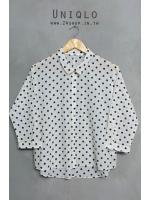 เสื้อเชิ้ตซีทรูทรงโอเวอร์ไซส์ Uniqlo
