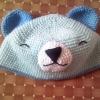 หมวกหมีสีฟ้า