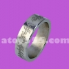 แหวนแม่เหล็ก  สีเงิน มีลาย  20 mm (PK ring)