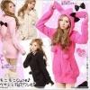 พร้อมส่ง - สีชมพูอ่อน เสื้อกันหนาวฮู้ดดี้ แฟชั่นเกาหลี กระต่าย น่ารัก