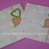 CG016 การ์ดแต่งงานสี่เหลี่ยมพับ (มี 2สี ให้เลือก)