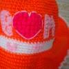 หมวกโครเชต์ส้ม