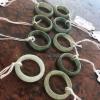 แหวนหยกพม่าแท้ไซท์เล็กพิเศษ ไซท์ 48-49 USA4-5 นื้อสวยเกรดส่งออกสีธรรมชาติ 100 %