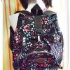 กระเป๋าสะพายหลัง Kipling สีน้ำตาลเข้ม ลายดอกไม้ KP305