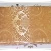 ผ้าห่มแพร สีทอง ลายไทย ๆ