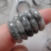 RJA103 แหวนหยกพม่าแท้สีควัญบุหรี 17.75 mm (56) หยกพม่าแท้สีธรรมชาติ