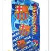 ผ้าเช็ดตัว ลายทีมฟุตบอลบาร์เซโลน่า(Barcelona) สีฟ้า