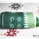 ผ้าห่ม ผ้าสำลี เนื้อนุ่ม 5 ฟุต สีเขียว ลายใบไม้ tw002