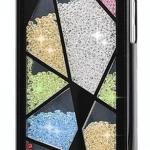 เคส iPhone 5c ประดับเม็ดคริสตัล ด้านใน คล้ายเม็ดทราย เคส แบบ เก๋ งาน Hand made ไม่ซ้ำใคร กระเบื้องเล่นสี สีดำ สีขาว no 98246_8