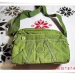 กระเป๋าสะพายข้าง Kipling ทรงพอง สีเขียวอ่อน K405