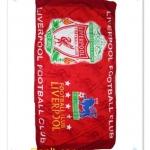 ผ้าเช็ดตัว ผ้าขนหนู ลายทีม Liverpool สีแดงผืนใหญ่ 5 ฟุต