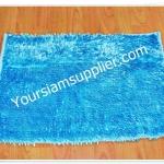 พรมเช็ดเท้า ไมโครไฟเบอร์ 40*60 cm สีฟ้าอ่อน รุ่นมันวาว