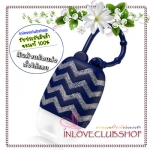 Bath & Body Works / PocketBac Holder (Navy With Chevrons) *ไม่รวมเจลล้างมือ