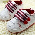รองเท้าผ้าใบ เด็กเล็ก เด็กผู้ชาย เด็กผู้หญิง สีขาว คาดแถบปิด สีแดง ตัดกันอย่างลงตัว มีรูระบายอากาศ รองเท้าผ้าใบ ลูกคุณหนู น่ารัก สุด ๆ 14301