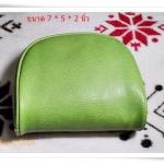 Used กระเป๋าหนังใส่สตางค์ ใส่ของ สีเขียวทนทานสุดๆ