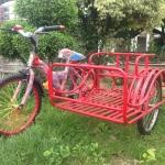 จักรยาน3ล้อ พ่วงข้าง สีแดง