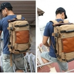 กระเป๋าเป้ Backpack กระเป๋าเดินทางแบบ สะพายหลัง หรือ สะพายข้าง ได้ทั้ง 2 แบบ วัสดุอย่างดี ผ้า canvas อย่างหนา no 616931