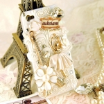 ID: A036 Case iPhone 4s, iphone 4 case คริสตัล รุ่น Love in Paris