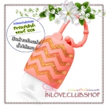 Bath & Body Works / PocketBac Holder (Coral With Chevrons) *ไม่รวมเจลล้างมือ