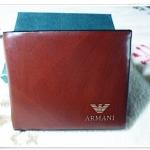 กระเป๋าสตางค์ผู้ชาย Armani ลายไม้สีน้ำตาล a10312