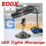 In Stock กล้องจุลทรรศน์ USB Digital Microscope กำลังขยาย 800X มีไฟส่องในตัว (พร้อมส่ง)