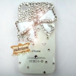 ID: A035 Case iPhone 4s, iPhone 4 Crystal Swarovki รุ่น Blink Bow