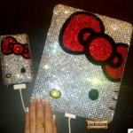 ID: A061 Case iPad2, ipad 3 Crystal รุ่น Kitty Blink Bow