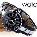 นาฬิกาข้อมือผู้หญิง สาย Stainless Steel กันน้ำได้ สีดำ หน้าปัดเรืองแสงได้ no 216203_1