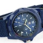 นาฬิกาข้อมือ ผู้หญิง ผู้ชาย แนว Sport สายผ้า Canvas เหมาะสำหรับคนแพ้สายโลหะ สีน้ำเงิน no 93040