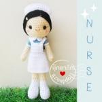 """ตุ๊กตาถัก นักศึกษา พยาบาล 9"""""""