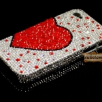 ID: A051 Crystal Swarovski Case iPhone 4s, 4  Endless Love