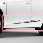 คิ้วโครเมียมแปะข้างประตูรถยนต์ New Yaris 2014