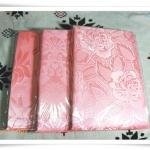 ผ้าแพร 5 ฟุต สีชมพูโอรส P102