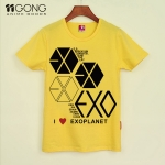 T-shirt EXO i love planet [yellow]