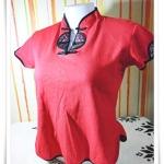 #15502 Used เสื้อยืดสีแดง ใส่ตรุษจีน