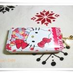 กระเป๋าสตางค์ Kitty สีชมพูใบยาวซิปรอบ K102