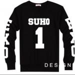 เสื้อแขนยาว SUHO 1 black sleeves [EXO]