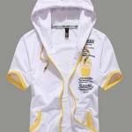 เสื้อ แจ็คเก็ต ผู้หญิง ผู้ชาย Jacket แบบมีฮู้ด เสื้อหมวก แขนยาว เสื้อคลุม สีขาว ตัดขอบ สีเหลือง แฟชั่น ดีไซน์ จากยุโรป ใส่เที่ยว ใส่กันหนาว 40250_2