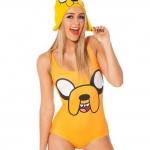 ชุดว่ายน้ำผู้หญิง ชุดว่ายน้ำเด็กผู้หญิง วันพีช ทรง วีคัท ลายการ์ตูน สีเหลือง ดีไซน์ เป็นภาพวาด หน้าสุนัข ชุดว่ายน้ำน่ารัก 392360_3