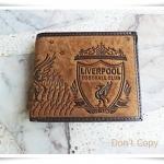 กระเป๋าสตางค์หนังสีน้ำตาล Liverpool