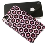 ID: A010 Swarovski Crystal Case iPhone 5, iPhone 4s case รุ่น Pink Leopard  ชมพูเสือดาว