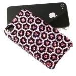 กรอบไอโฟนสวยดุจนางพญา Swarovski Crystal Case iPhone 5, iPhone 4s case รุ่น Pink Leopard  ชมพูเสือดาว