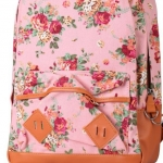 กระเป๋าเป้ สะพายหลัง ใส่เสื้อผ้า ใส่หนังสือไปเรียน ลายดอกไม้ หวาน ๆ สาวคิกขุ สไตล์ญึ่ปุ่น ผ้า Canvas สีชมพู no 2783519