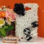 A082 : Sumsung Galaxy Note Case Crystal รุ่น CC Pearl