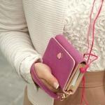 กระเป๋าสตางค์ผู้หญิง กระเป๋าสตางค์ใบยาว กระเป๋าใส่โทรศัพท์ Samsung Galaxy S2 S3 Iphone 4S ดีไซน์ มีช่องออก ของสายหูฟัง สวยเก๋ 760594