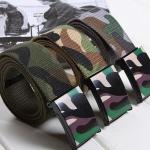 เข็มขัดผ้าแคน วาส ลายพราง เข็มขัดลายทหาร โทนสีเขียว เข็มขัดผู้ชาย เท่ ๆ แบบวัยรุ่น ผู้หญิง ใส่ได้ เข็มขัดผ้าแคนวาส ราคาถูก 971273