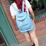 กระเป๋าเป้ กระเป๋าสะพายหลัง หนัง Pu กันน้ำได้ ใช้งานทนทาน กระเป๋าสะพาย วัยรุ่น หนังเงา สีพื้น กระเป๋าเป้ ใส่หนังสือเรียน ใส่ของเที่ยว สีพี้น 922409