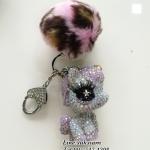 ปอมปอมบริ๊ง ๆ พวงกุญแจน่ารักสุดเก๋ keyrings My little Pony handmade crystals bling ID:A291
