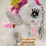  Pony key ring crystal